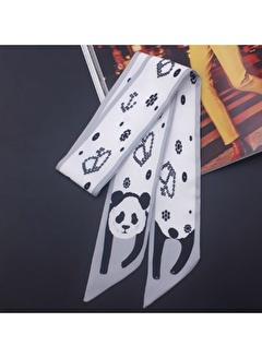 Lwp Shop Selfridges Desenli İpek Oranj Kadın Boyun Şalı 53 cm